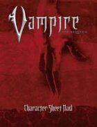 Vampire: The Requiem Character Sheet Pad