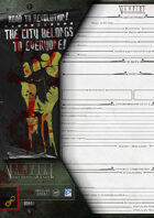 VtM- City Worksheet for the Anarchs [3rd Edition]