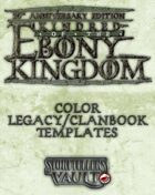 Kindred of the Ebony Kingdom Color Legacybook Templates (InDesign)