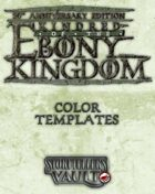 Kindred of the Ebony Kingdom Color Templates (Word)