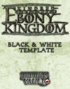 Kindred of the Ebony Kingdom Black & White Templates (InDesign)