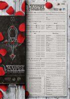 VAMPIRE: THE DARK AGES Character Sheets [V20]