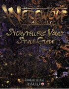 Werewolf: The Apocalypse Storytellers Vault Style Guide
