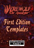 Werewolf: The Apocalypse 1st Edition Templates