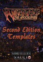 Werewolf: The Apocalypse 2nd Edition Templates