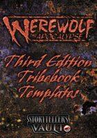 Werewolf: The Apocalypse 3rd Edition Tribebook Templates