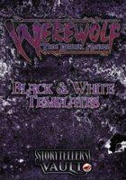 Werewolf: The Dark Ages Black & White Templates