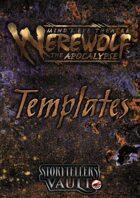 Minds Eye Theatre: Werewolf The Apocalypse Templates (Word)