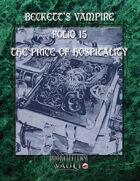 Beckett's Vampire  Folio 15:  The Price of Hospitality