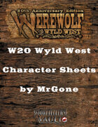 MrGone's Werewolf The Wyld West Character Sheets