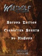 MrGone's Werewolf the Forsaken Second Edition Character Sheets