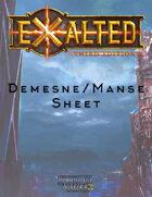 Demesne/Manse Sheet (Print Version)