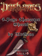 MrGone's Dark Ages Inquisitor 4-Page Character Sheets