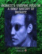 Beckett's Vampire Folio 26: A Brief History of  Beckett