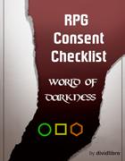 World of Darkness RPG Consent Checklist (A4)