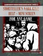 Storyteller's Narrative help mini screen