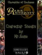 MrGone's Mirrors: Dark Antiquity Character Sheets