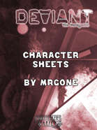 MrGone's Deviant The Renegades Character Sheets