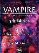 MrGone's Vampire the Masquerade Fifth Edition Misc Character Sheets
