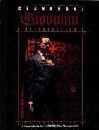 Clanbook: Giovanni - 1st Edition