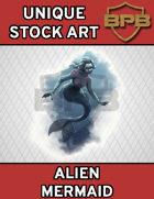 Unique Stock Art - Alien Mermaid