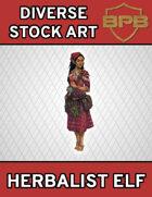 Diverse Stock Art - Herbalist Elf