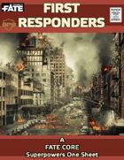 First Responders, A FATE Superhero One Sheet