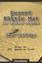 Wargames Battle Mat 3'x3' - Desert (021c)