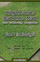 Wargames Battle Mat 6'x4' - Highlands (011)