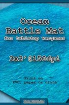 Wargames Battle Mat 3'x3' - Ocean (071c)