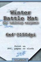 Wargames Battle Mat 6'x4' - Winter Snow (031)