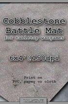 Wargames Battle Mat 6'x4' - Cobblestone City (041)