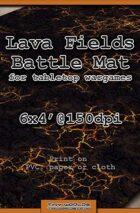 Wargames Battle Mat 6'x4' - Lava Fields (051)