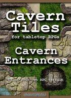 Cavern Tiles - Cavern Entrances - RPG Game Tiles