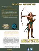 Fantasy Archetypes: Bowman