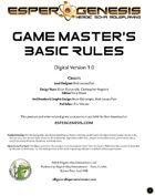 Esper Genesis Game Master's Basic Rules - FREE
