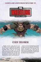 Pro Wrestling Fantasy World: Cody Deaner