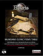 Mundane Cleric Items Tables