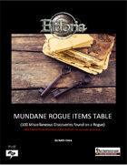 Mundane Rogue Items Tables