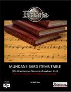 Mundane Bard Items Tables