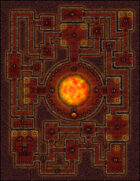 VTT Map Set - #010 Lair of the Magma Lord