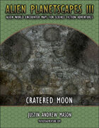 Alien Planetscapes III: Cratered Moon