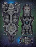 VTT Map Set - #231 Starship + Shuttle Deckplans