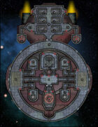 VTT Map Set - #241 Starship Deckplan: Martian Infiltrator
