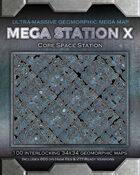 Mega Station X - Ultra Massive Geomorphic Map - Core Space Station
