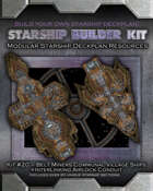 Starship Builder Kit: #20 - Belt Miners Communal Village Ships + Interlinking Airlock Conduit