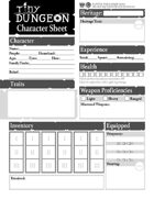 Tiny Dungeon 2e: Character Sheet