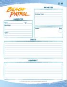 Beach Patrol Character Sheet