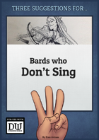 Bards Who Don't Sing