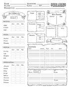 Open Legend Printable Character Sheet